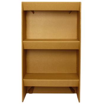 cardboard shelf elf librero de cartón